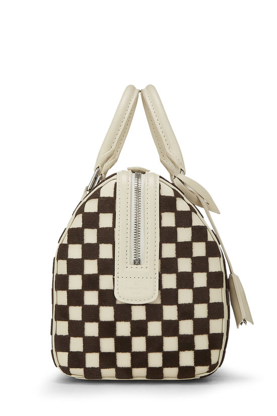 Cream & Brown Damier Cubic Speedy Cube PM, , large image number 1