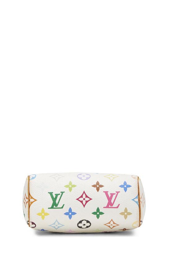 Takashi Murakami x Louis Vuitton White Monogram Multicolore HL Speedy Mini, , large image number 5