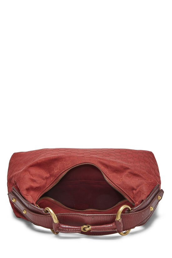 Red GG Canvas Horsebit Hobo, , large image number 5
