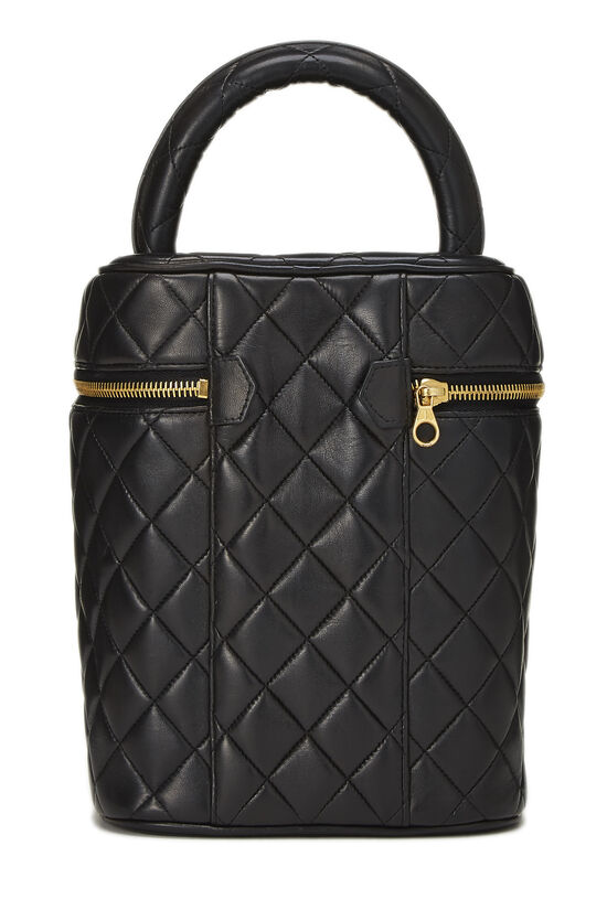 Black Quilted Lambskin Vanity Tall, , large image number 3