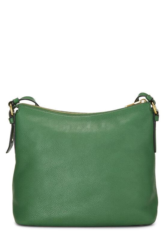 Green Vitello Daino Shoulder Bag, , large image number 4