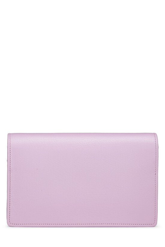 Pink Leather GG Marmont Wallet on Chain Mini, , large image number 3
