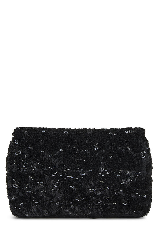 Black Sequin Half Flap Mini, , large image number 4