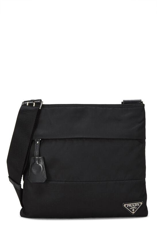 Black Nylon Shoulder Bag, , large image number 0