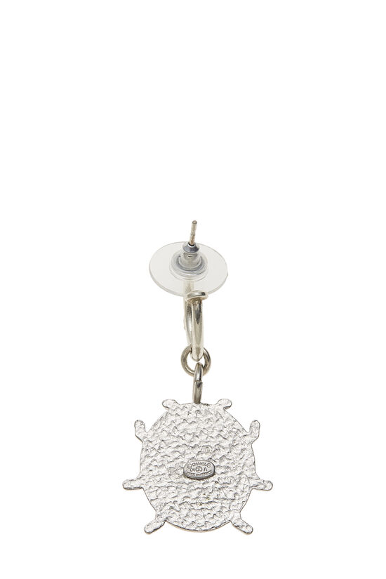 Silver & Pink Enamel Ladybug 'CC' Earrings, , large image number 1