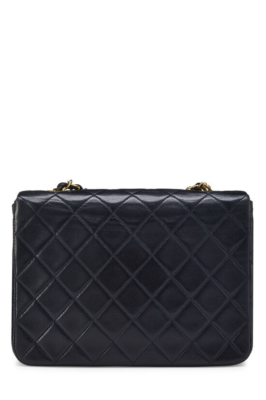 Navy Quilted Lambskin Half Flap Small, , large image number 3