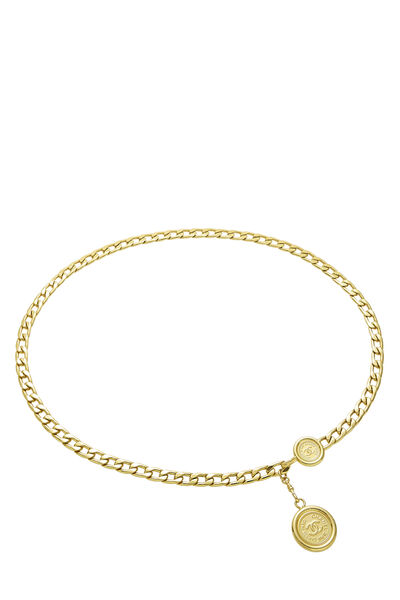Gold 'CC' Chain Belt