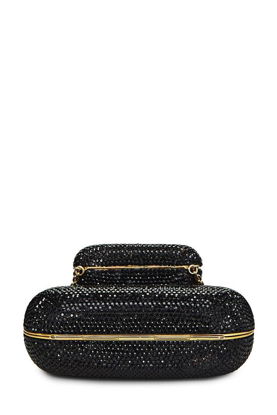 Black Crystal Double Purse Minaudiere, , large image number 4