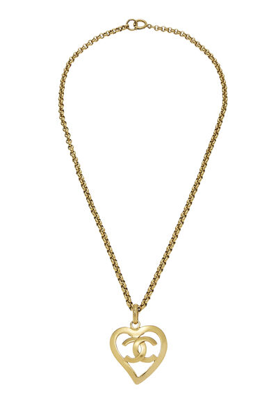 Gold CC Open Heart Necklace