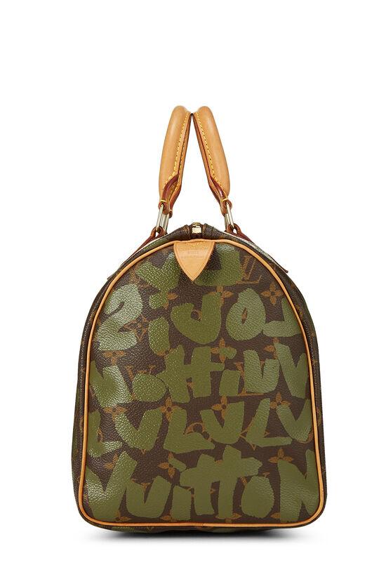 Stephen Sprouse x Louis Vuitton Monogram Green Graffiti Speedy 30, , large image number 2