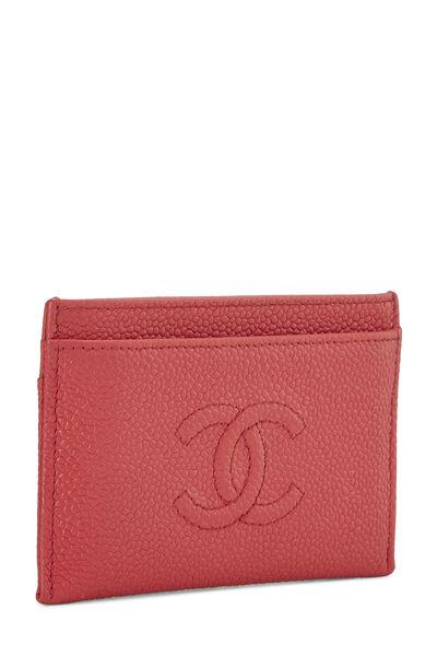 Red Caviar 'CC' Card Holder, , large
