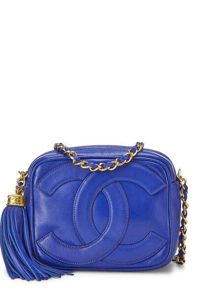 Blue Lambskin 'CC' Camera Bag Mini