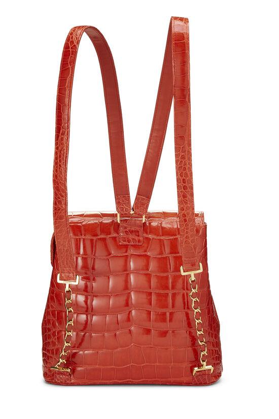 Orange Alligator Backpack, , large image number 3