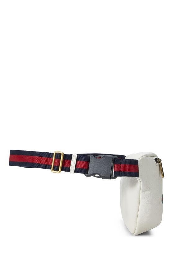 White Leather Logo Belt Bag Small, , large image number 2