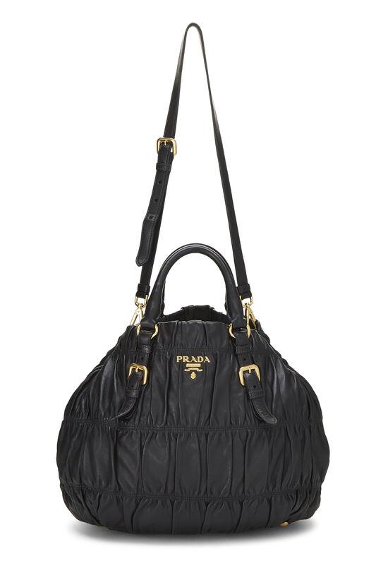 Black Nappa Gaufre Handbag, , large image number 6