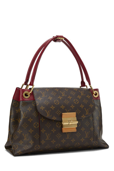 Red Monogram Canvas Olympe, , large