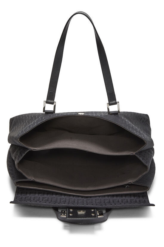 Black Zucchino Canvas Handbag Large, , large image number 5
