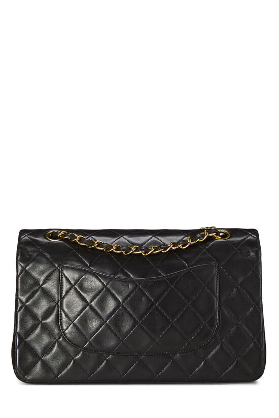 Black Quilted Lambskin Classic Double Flap Medium, , large image number 3