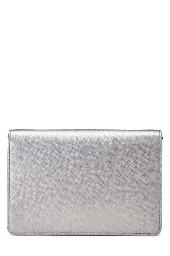 Silver Saffiano Leather Wallet-On-Chain (WOC), , large image number 4