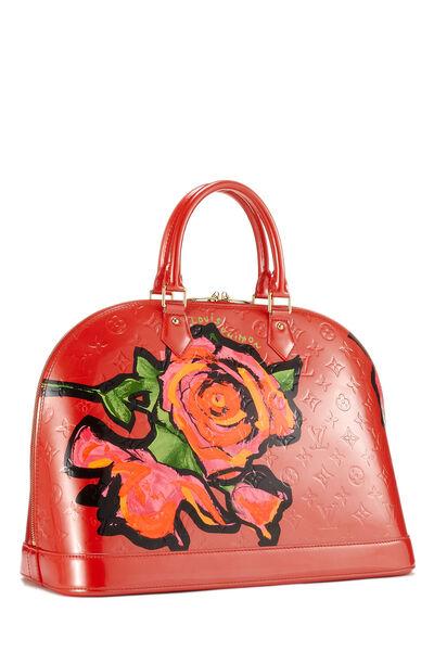 Stephen Sprouse x Louis Vuitton Pink Monogram Vernis Roses Alma GM, , large