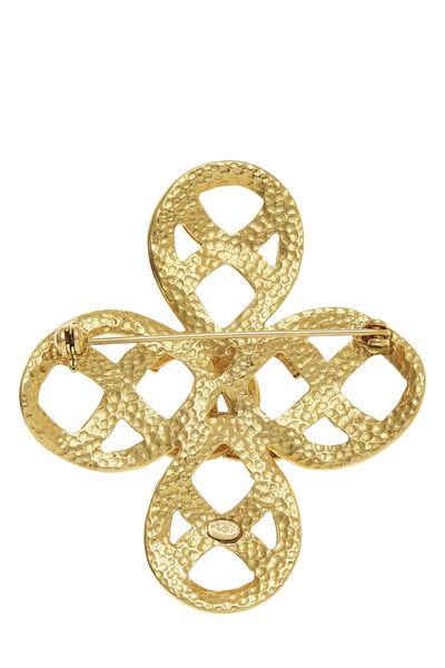 Gold 'CC' Cross Pin, , large