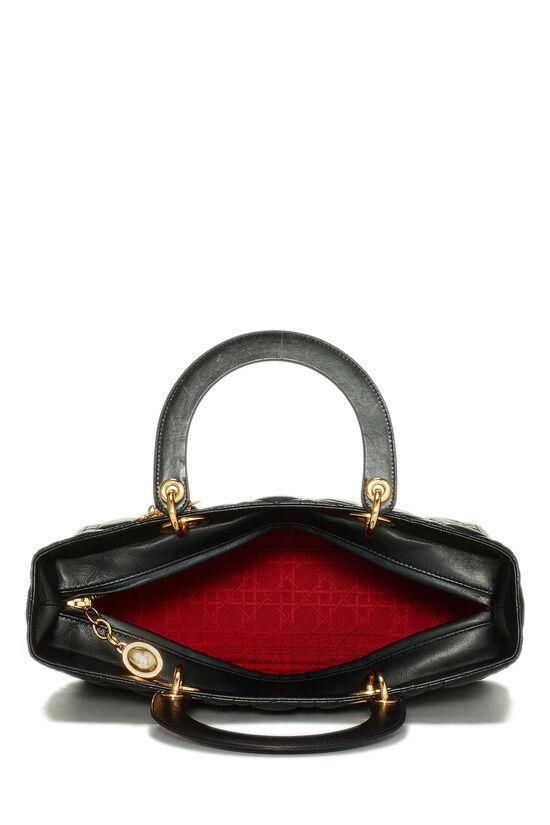 Black Cannage Lambskin Lady Dior Large, , large image number 6