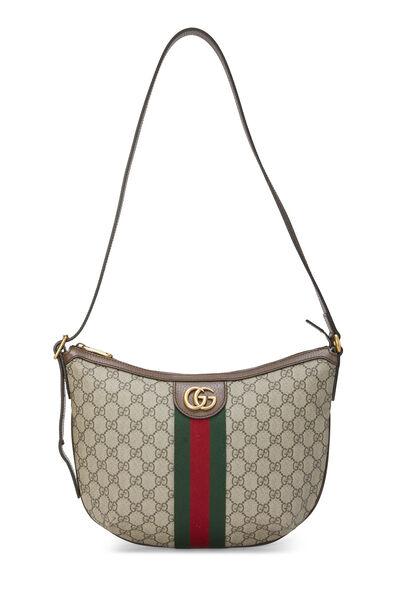Original GG Supreme Canvas Ophidia Shoulder Bag Small