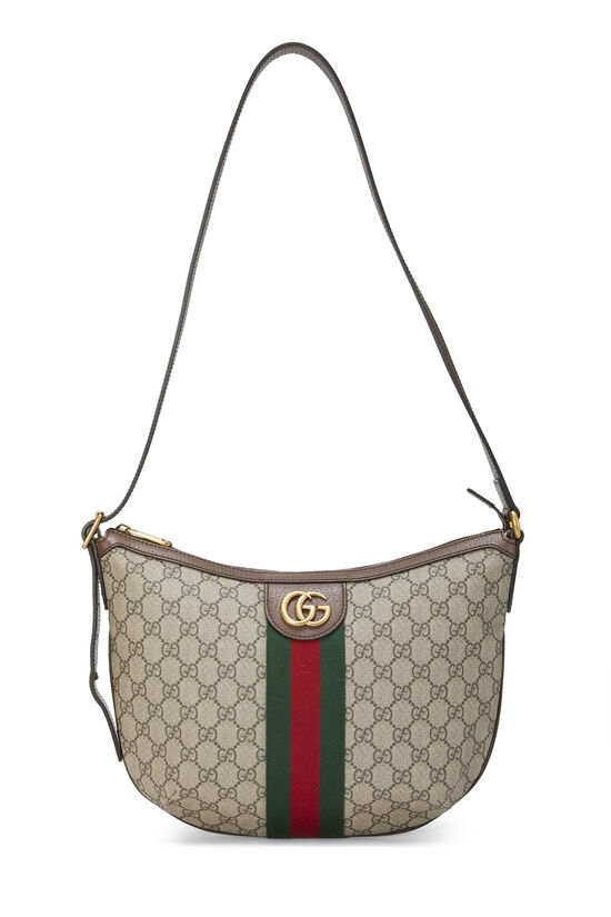 Original GG Supreme Canvas Ophidia Shoulder Bag Small, , large image number 0