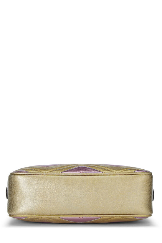 Pink & Gold Leather GG Marmont Crossbody Small, , large image number 4