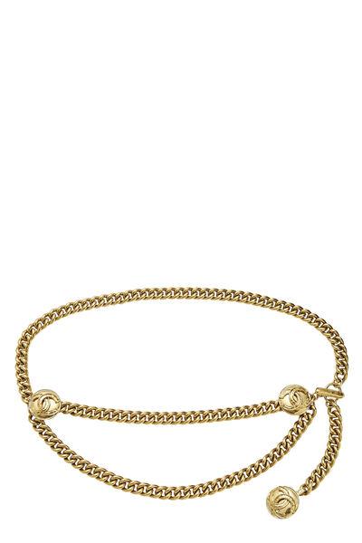 Gold 'CC' Medallion Chain Belt 2