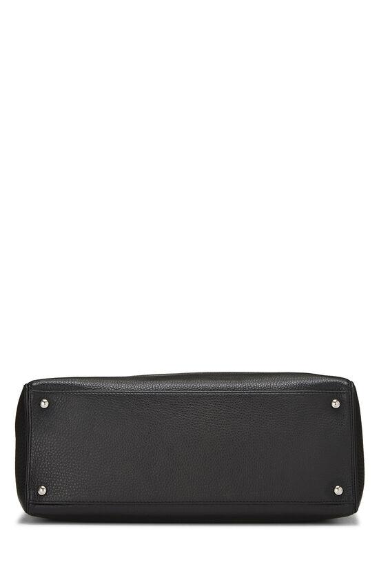 Black Calfskin Cerf Executive Shopper Tote, , large image number 4