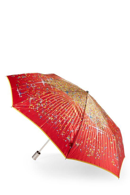 Red Nylon Dot Motif Umbrella, , large image number 2