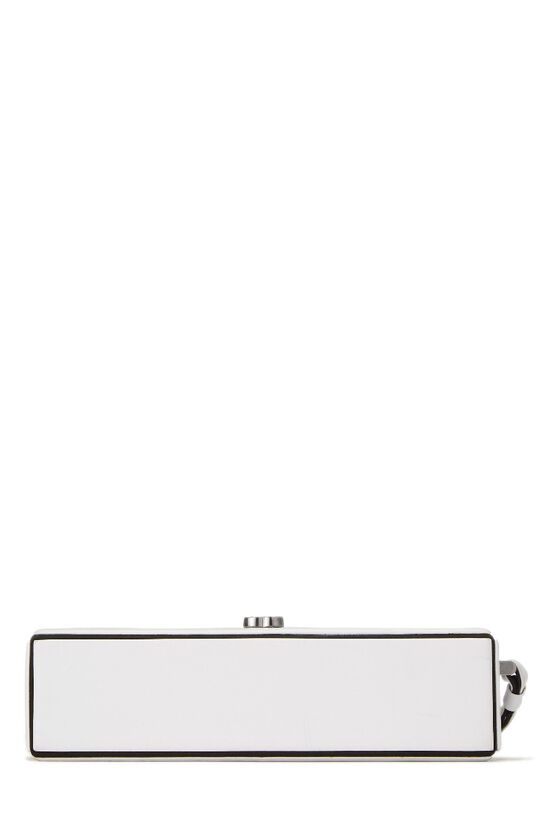 White Lambskin Clutch, , large image number 3