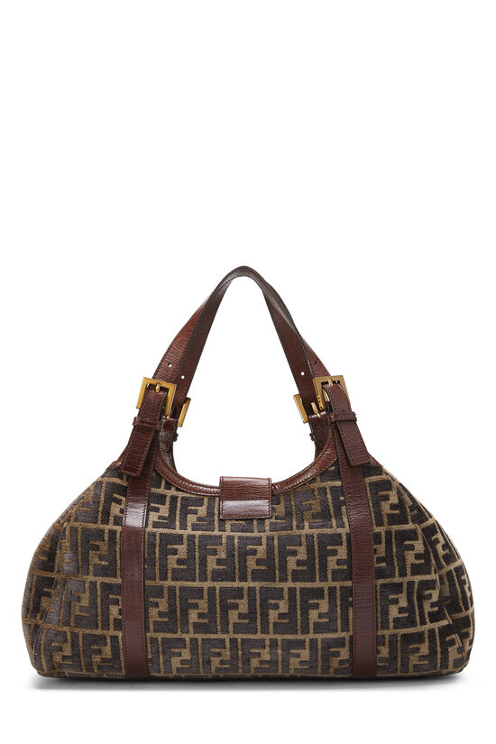 Brown Zucca Velour Borsa Sporty, , large image number 3