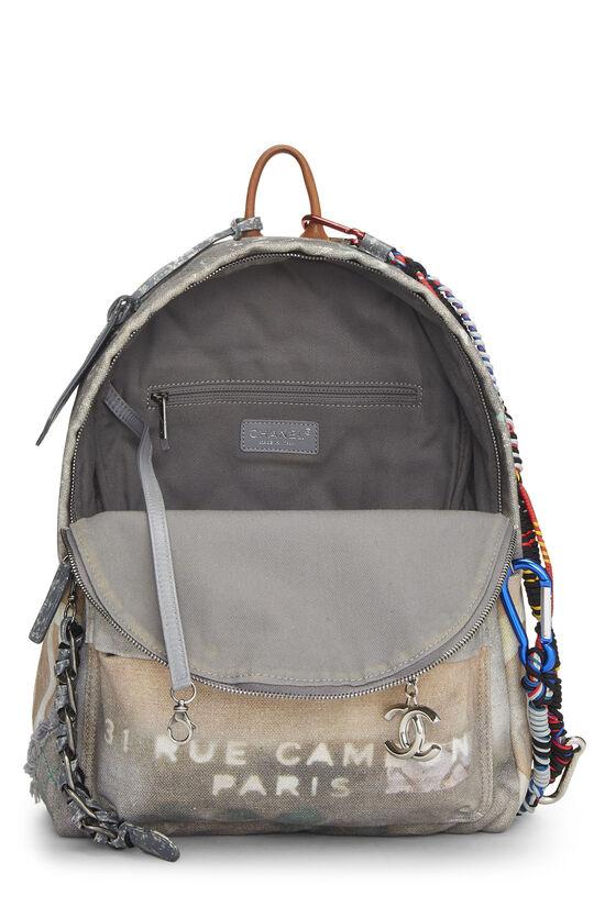 Grey Canvas Graffiti Backpack, , large image number 5