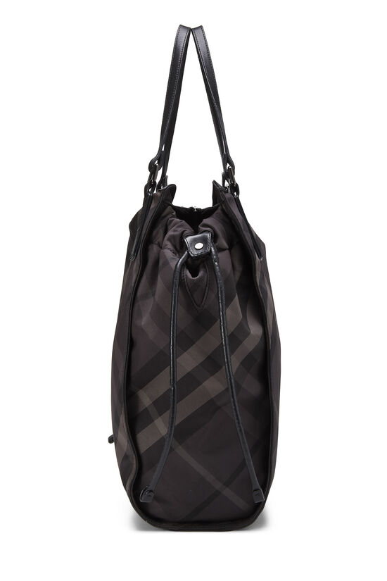 Black Check Nylon Buckleigh Tote, , large image number 2