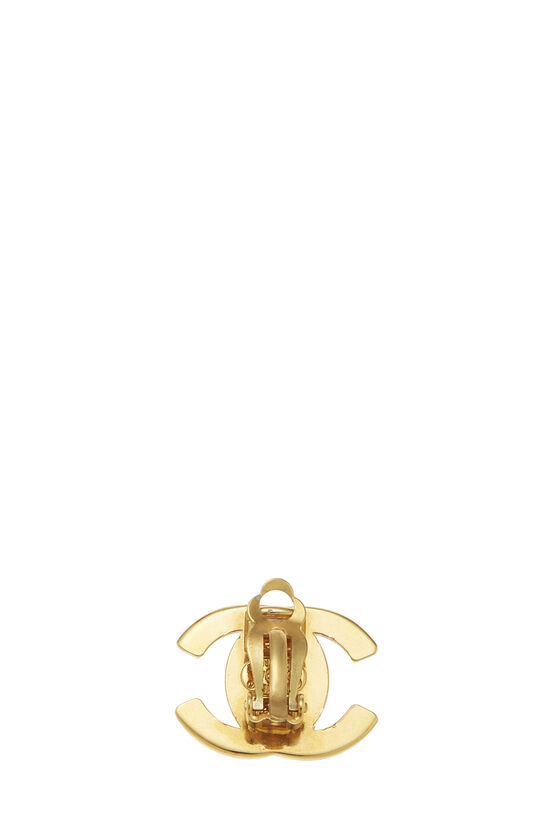Gold 'CC' Turnlock Earrings Small, , large image number 1