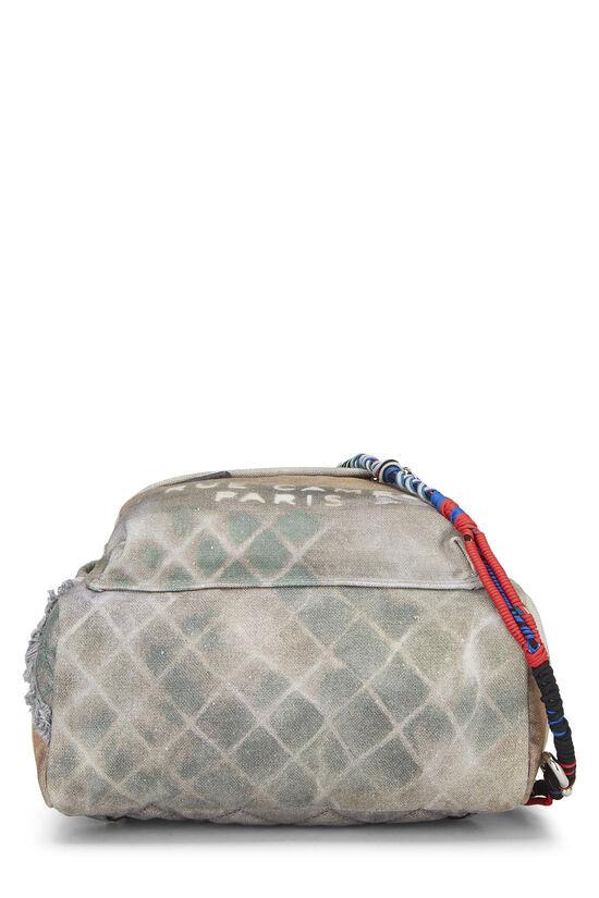 Grey Canvas Graffiti Backpack, , large image number 4