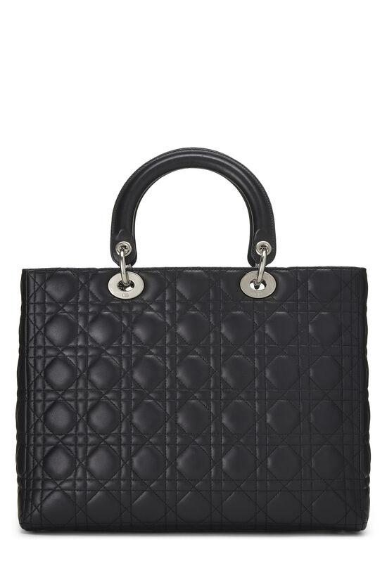 Black Cannage Lambskin Lady Dior Large, , large image number 3