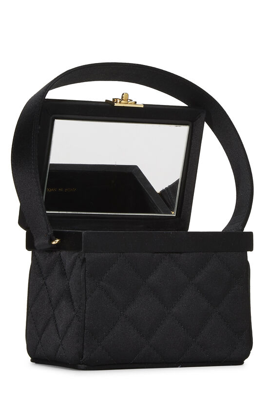 Black Quilted Satin Box Vanity Mini, , large image number 6