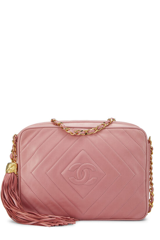 Pink Lambskin Diamond CC Camera Bag Medium, , large image number 0