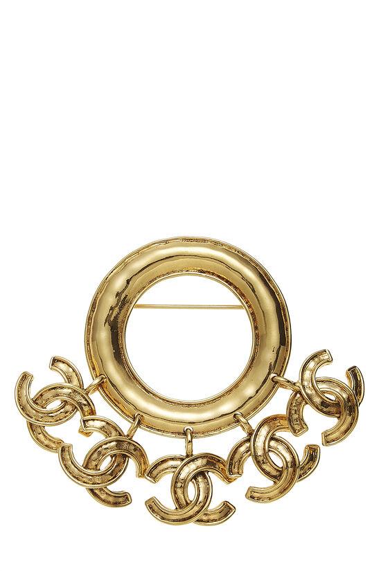 Gold 5 'CC' Dangle Pin, , large image number 0