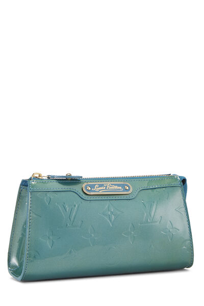 Green Monogram Vernis Trousse Cosmetic Pouch, , large