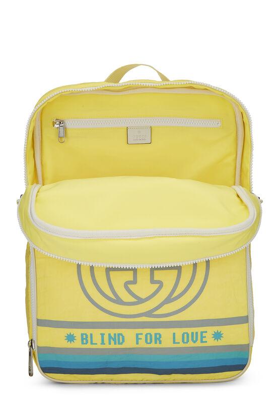 Yellow Nylon GG Backpack, , large image number 5