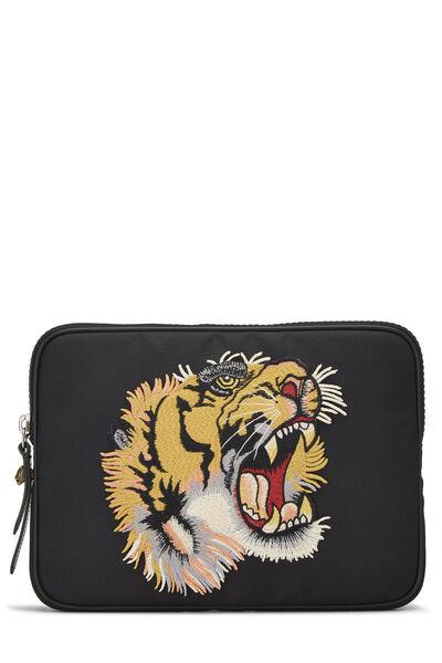 Black Nylon Tiger Tablet Sleeve Small