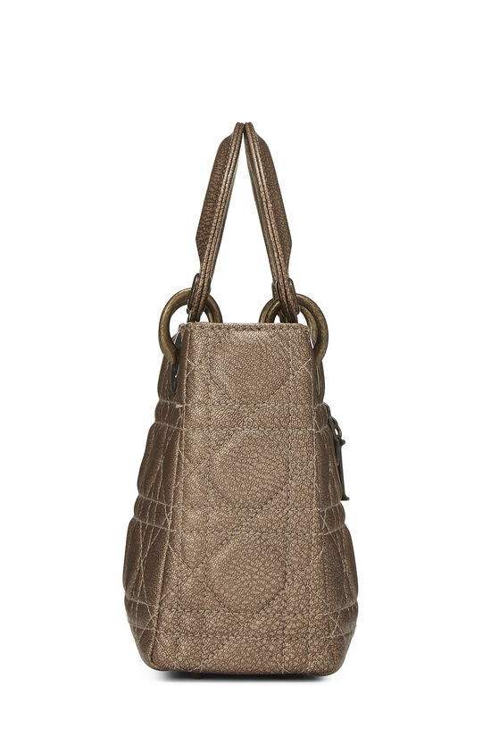 Bronze Cannage Quilted Lambskin Lady Dior Mini, , large image number 2