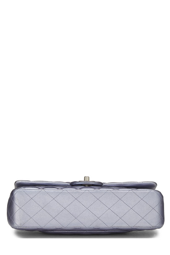 Metallic Purple Quilted Lambskin Classic Double Flap Medium, , large image number 4
