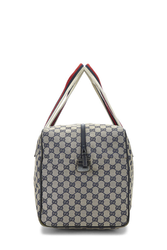 Navy GG Canvas Carry On Duffle Large, , large image number 2