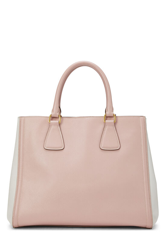Pink & Ivory Saffiano Bicolor East West Tote, , large image number 3