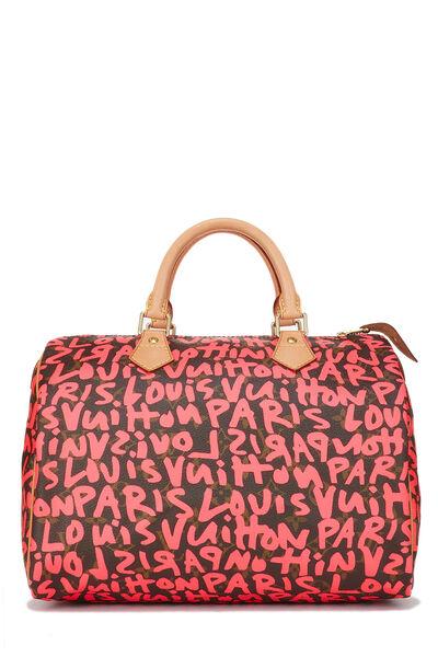 Stephen Sprouse x Louis Vuitton Monogram Pink Graffiti Speedy 30